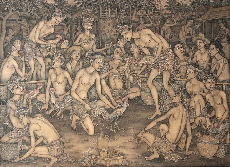 Traditional Balinese Painting by I Ketut Ginarsa #Indonesia is also sharing there culture through art. #craft #workshop #Bali #Indonesia #Paintings http://www.craftworkshopbali.com/