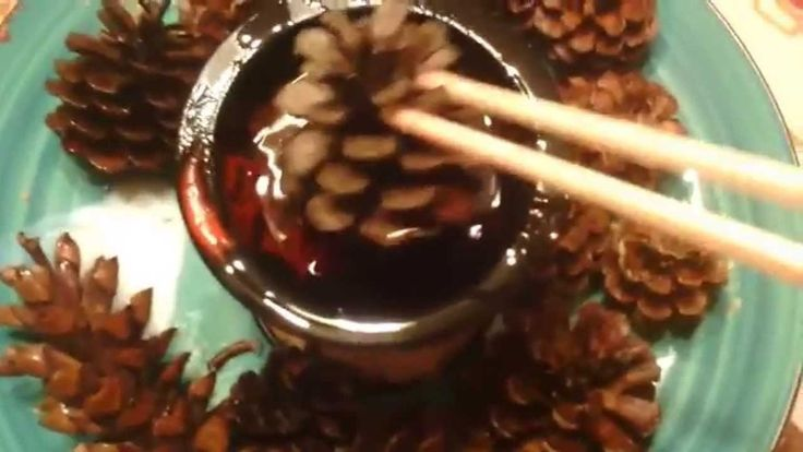 DIY SCENTED HOLIDAY PINE CONES  - YouTube