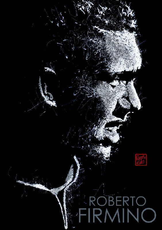 Roberto Firmino : Liverpool player : Liverpool FC : black ink drawing Illustration #Liverpool #TheKopArtsStudio #liverpoolfc #football #thisisanfield #lfc #lovelfc #ynwa #picoftheday #matchday #art #drawing #Illustration