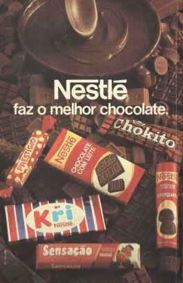 como era bom...  chocolate nestle