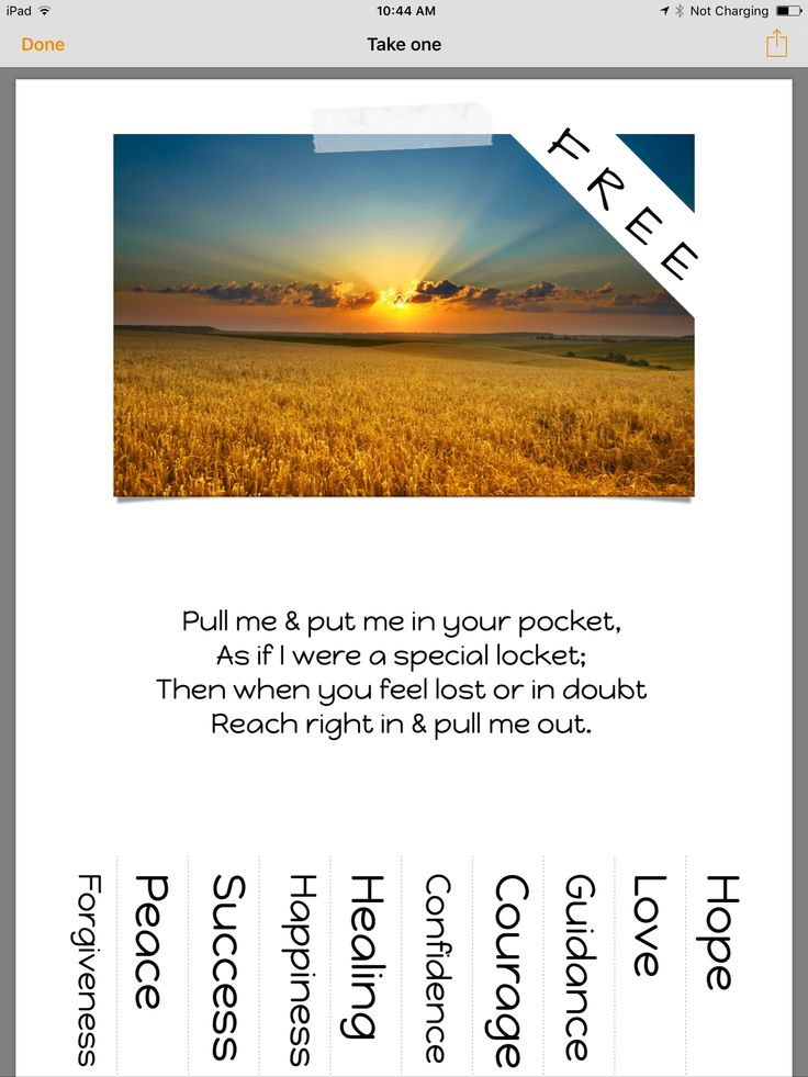 This is 1 of many that I create, each with different words to choose from. I place them in different areas around town, especially in stressful environments like outside of a job center, a hospital, homeless area etc. feel free to copy, you will be amazed at how many people rip these off. Be sure to replace with a new one once your original one is picked through. Ask for permission to stick one up if it's on private property, most people have no objections. Font used - Happy Monkey