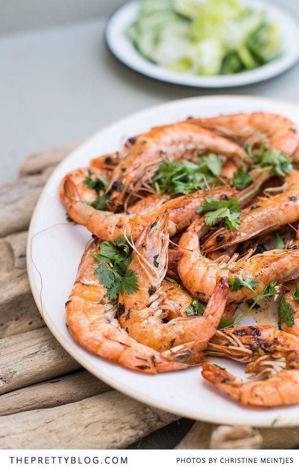 Lovely prawn dish to compliment your beach inspired Christmas | Photography by Christine Meintjies
