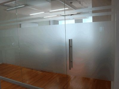 Etched Glass Nyc Frosted Vinyl Film Window Graphics In
