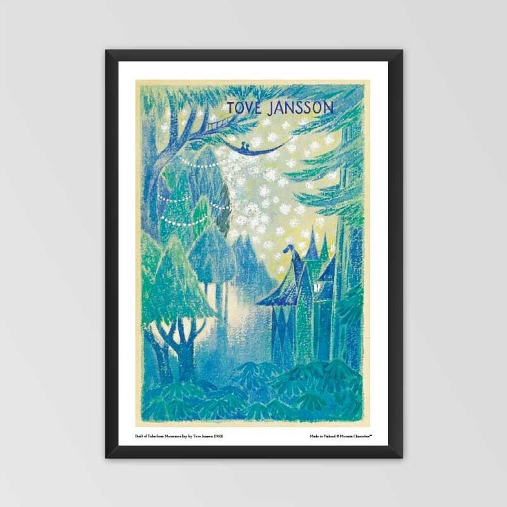 Moomin poster - Draft of Tales from Moominvalleyby Tove Jansson exclusively from shop.moomin.com! Available in two sizes: 70 x 50 cm