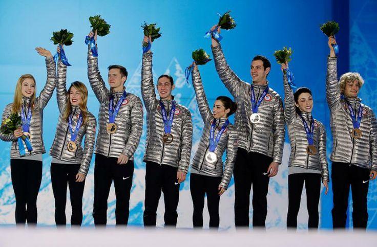 US wins bronze in team figure skating