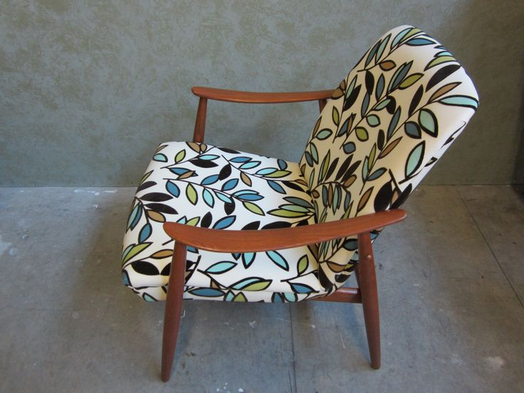 #accent #chair #repaired #refinished & #reupholstered by AM Furniture Finishing. Side view