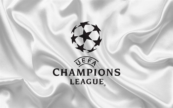 Hämta bilder UEFA Champions League, emblem, logotyp, fotboll, fotboll Europeisk turnering, Champions League