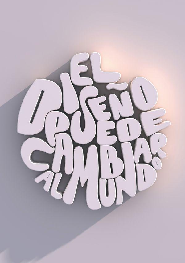 Afiche tipográfico by Natasha Sandoval in Showcase of Stylish Typography