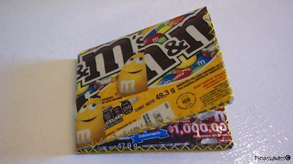 Upcycled M & Ms wrappers Recycled water proof wallet