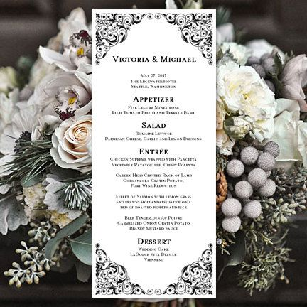 10 best Menu images on Pinterest Menu templates, Wedding menu - menu templates microsoft word