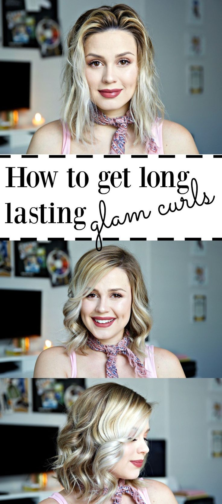 How to get glam curls | How to have long lasting curls | Bob curls | Easy curls | Uptown with Elly Brown