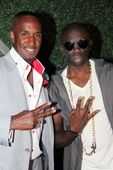 """Perry Jones and Sam Sarpong attending the 2nd Annual Sam Sarpong """"Who's Hot in Hollywood"""" Fashion Week Wrap Party Hosted by Duane Martin held at the Xen Lounge in Studio City, CA, USA on 10/23/2014   GRE-008327"""