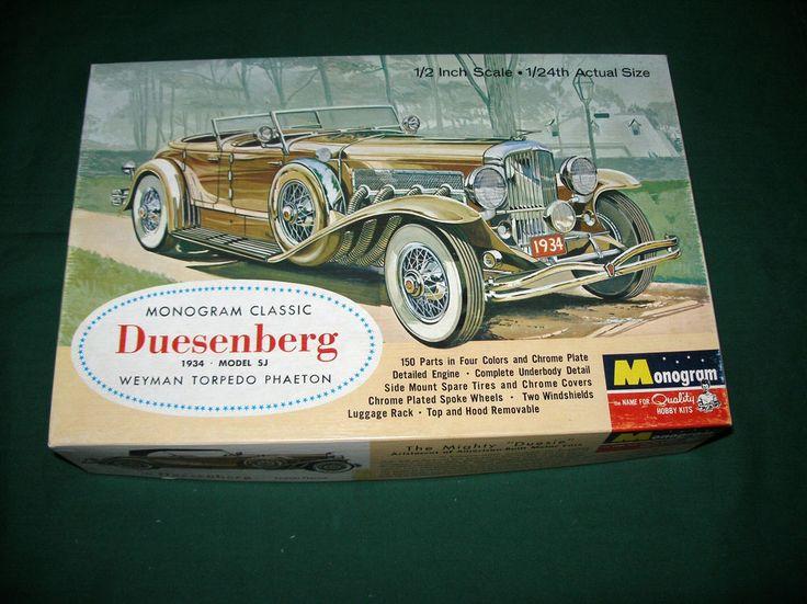 Vintage 1963 Monogram 1934 Duesenberg Model Sj Model Car Kit 1 24