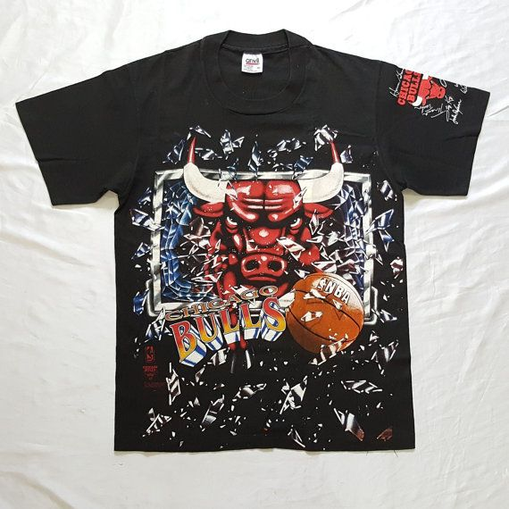 Vintage 1992 Chicago Bulls Backboard Breaking Dunks T-Shirt  https://www.etsy.com/listing/502760913/  #Vintage #90s #ChicagoBulls #Basketball #NBA #Champions #BackboardBreaking #Slam #Dunks #Autograph #T #Shirt #Black #Medium #Michael #Jordan #AirJordan