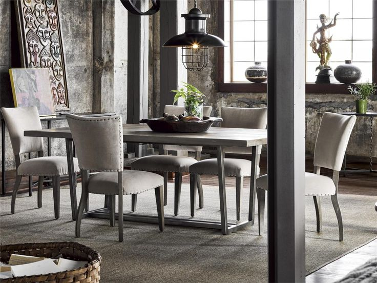 Universal Furniture Curated Sedgwick 7 Piece Rectangular Dining Set In  Greystone