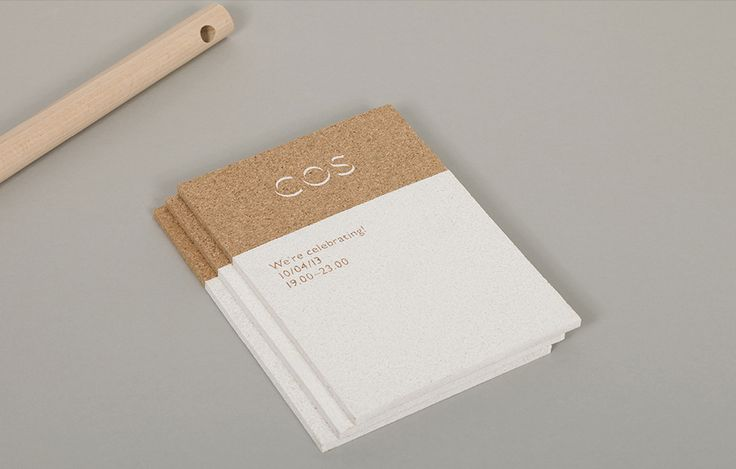 COS Concept Store's Cork VIP invitations / designed by INT Works
