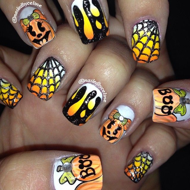 Instagram media nailedbyceline -  halloween #nail #nails #nailart