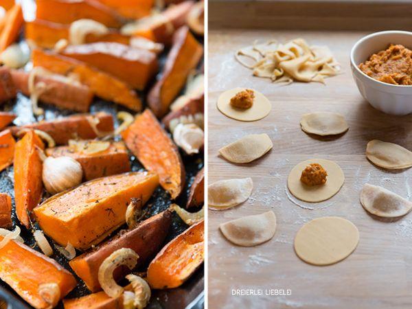 Süßkartoffel-Walnuss-Ravioli mit Salbeibutter