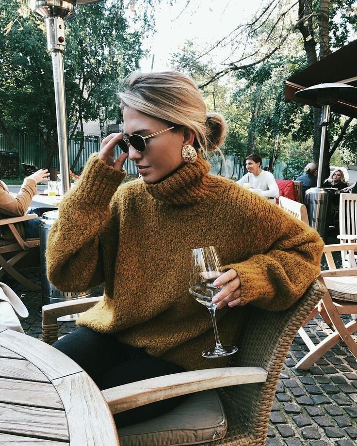 Cozy oversized knit sweater.