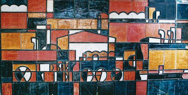 Dumas Oroño: MURALES ESCULTURAS Y OBJETOS Cerámica vidriada. Edificio CAMPIDOGLIO, Punta del Este/Uruguay
