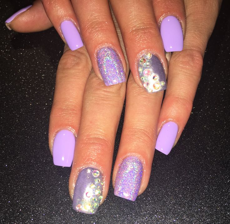 lavender chrome nails