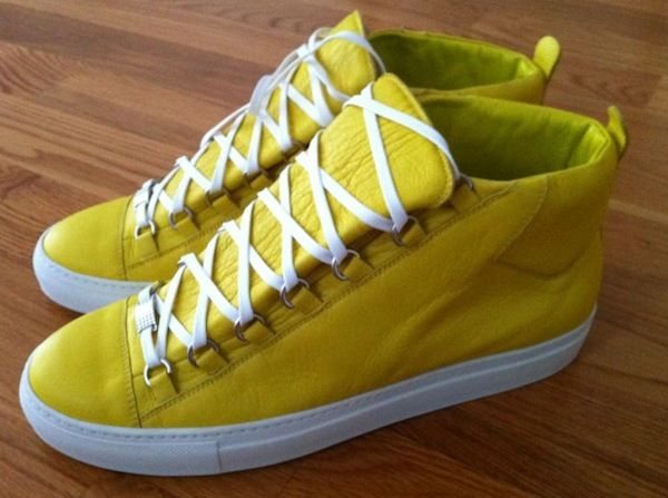 yellow balenciaga Arena sneakers ($545) from the Spring 2011 Collection