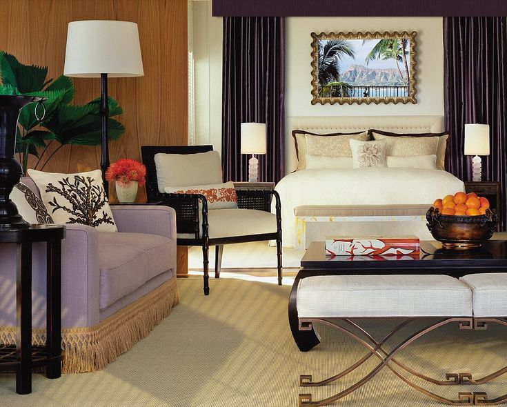 Vera Wang's suite at the Halekulani Hotel in Hawaii uses items from the designer'sspecialty home, gift, bath and accessories collections
