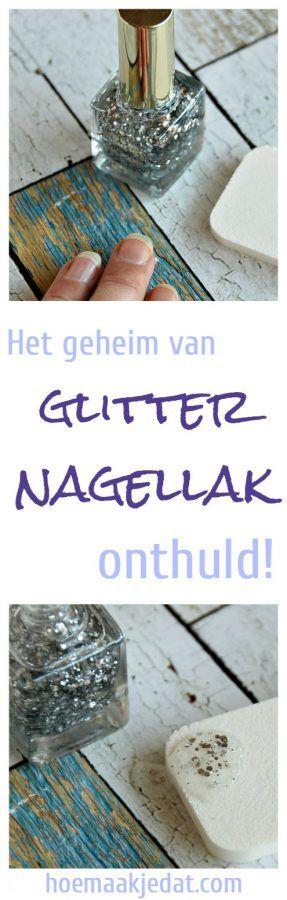 Het geheim van glitter nagellak onthuld! The secret to putting on glitter nailpolish!