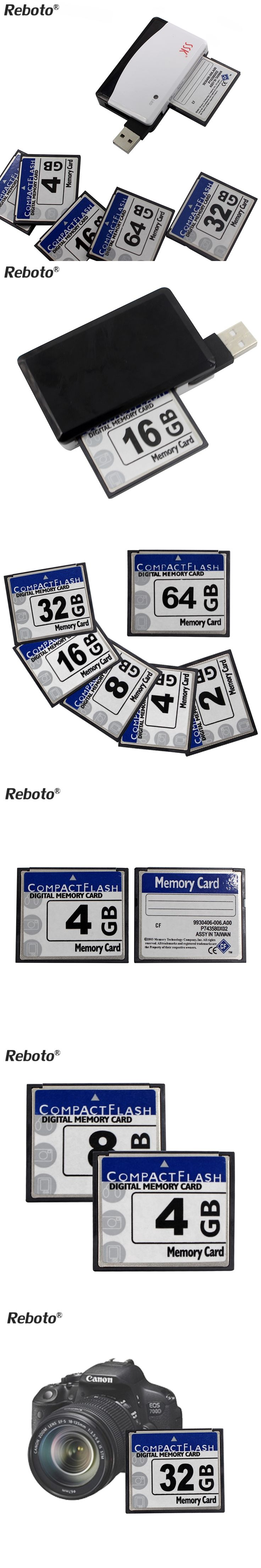 Reboto High Speed CF Card 32GB Pen Drive 64GB Genuine Capacity Micro SD 4GB 8GB 16GB Memory Stick Card For Carema