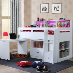 Mid Sleeper Cabin Bed White - Pepper