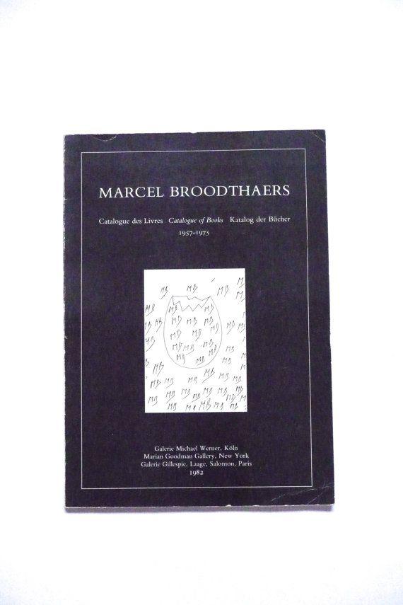 Marcel Broodthaers Catalogue of Books 1957-1975 Vintage Book