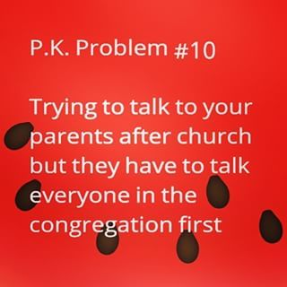 Pastor Kid Problems.