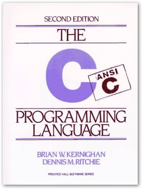the C Programming Language (second edition) by Dennis Ritchie