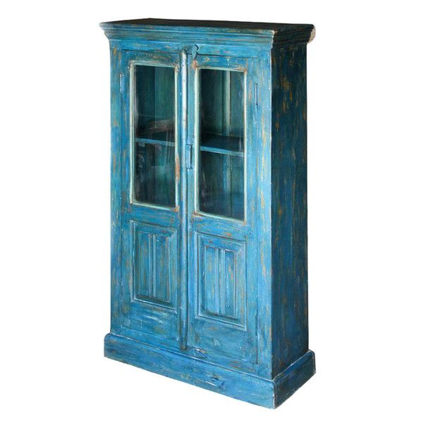 Indigo Glass Front Cabinet  http://www.theimporter.co.nz/collections/new