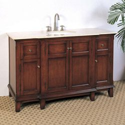 @Overstock - This single sink vanity is perfect for your next bathroom remodel. Featuring classic detailing, this traditional furniture piece brings elegance to any home.http://www.overstock.com/Home-Garden/Marble-Top-53-inch-Single-Sink-Bathroom-Vanity/5971013/product.html?CID=214117 $925.99