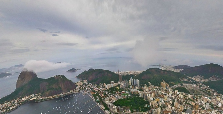 The Botafogo district of Rio de Janeiro. It's a beachfront neighborhood that is home to Botafogo de Futebol e Regatas, one of the largest soccer teams in Brazil.