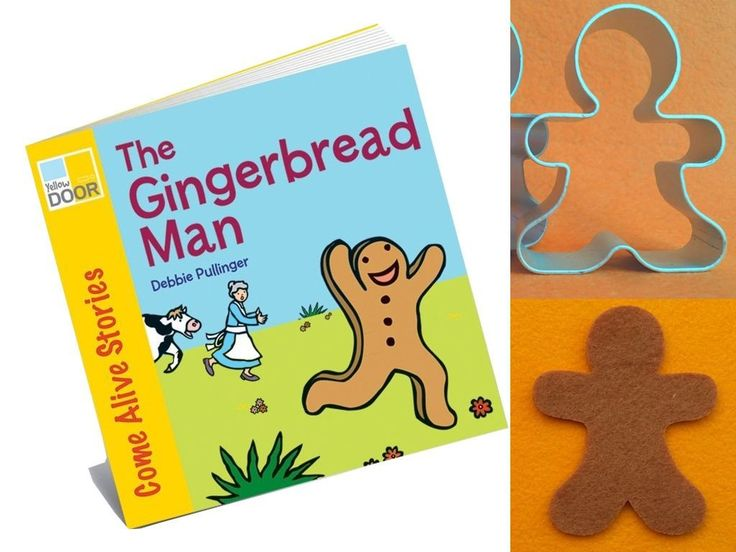 The Gingerbread Man Story Book with cutter and felt cutouts from Dough.Tools.