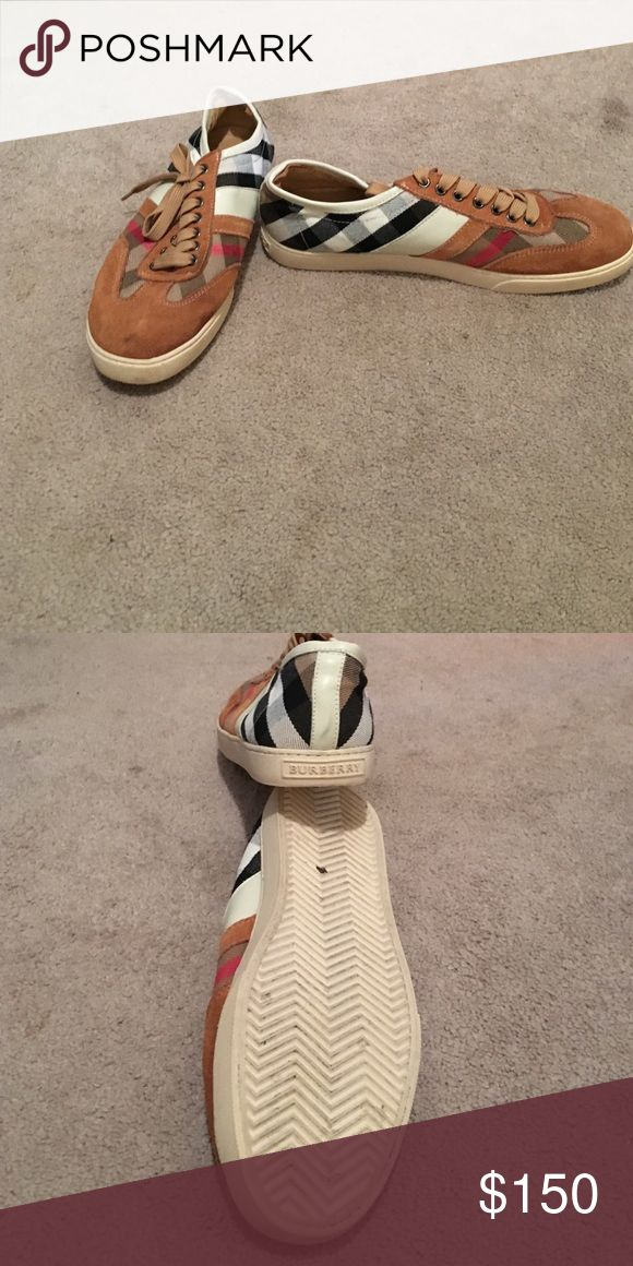 Burberry men's sneakers Great condition, small smudge on toe of right shoe. Retails for $375 Burberry Shoes Sneakers