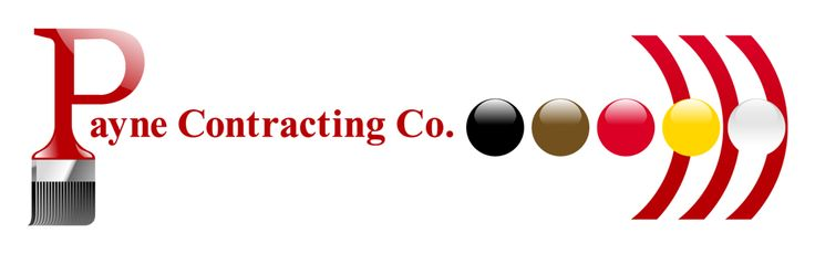 Payne Contracting company's new logo design.
