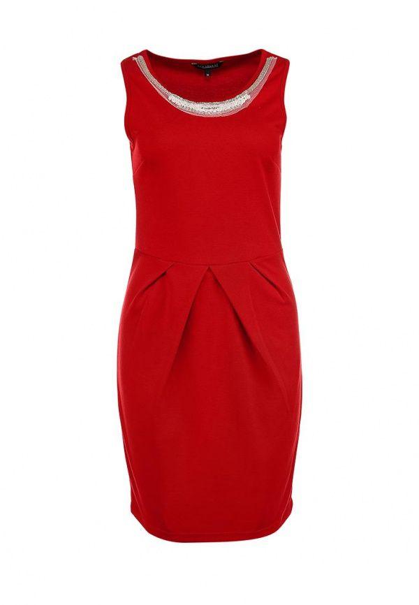 Платье Top Secret женское. Цвет: красный. Сезон: Осень-зима 2013/2014. С бесплатной доставкой и примеркой на Lamoda. http://j.mp/1lHp872
