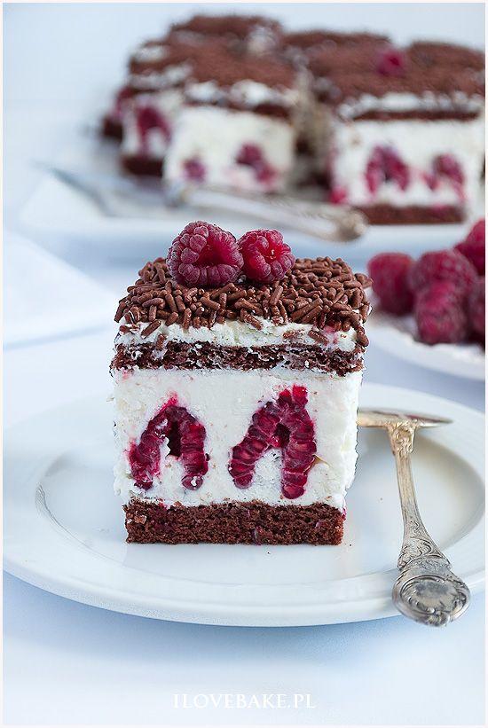 ciasto z malinami i mascarpone