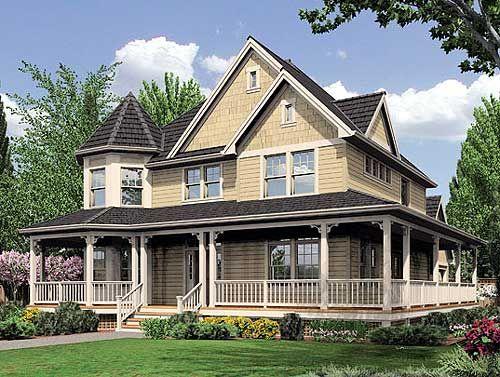 Fabulous Wrap Around Porch Farmhouse With