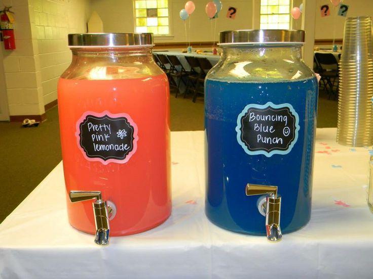 We used pink lemonade and blue Hawaiian punch.