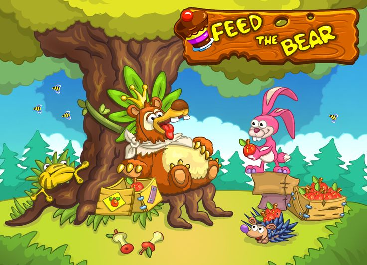 The King wants food NOW! New FREE game Feed The Bear by HeroCraft. https://play.google.com/store/apps/details?id=com.herocraft.game.free.feedthebear