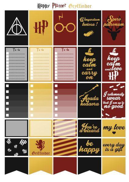 Printable stickers Harry Potter maison par Lateliercreatif06                                                                                                                                                      More