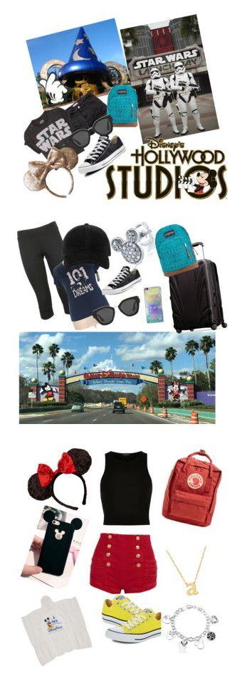 """Walt Disney World Outfit Ideas"" by babylindarocks ❤ liked on Polyvore featuring Disney, H&M, JanSport, Converse, Prada, adidas, Samsonite, rag & bone, outfit and disney"
