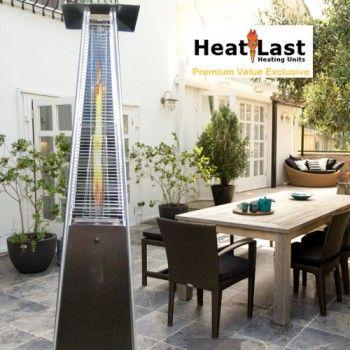 $299 HeatLast   Living Flame   Glass Tube Propane Patio Heater