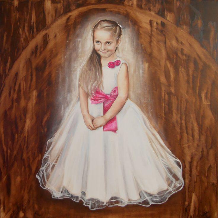 Portrét na zakázku Olej na plátně 80x80cm