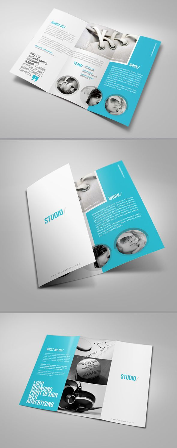 Clean Tri-Fold Brochure by ~24beyond on deviantART