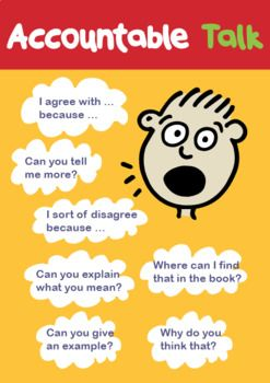 Accountable talk is important for students to learn across all subjects. Use this colorful and fun poster in your classroom or electronically to help your students learn to talk to each other the right way. You can even print this out and put it on your